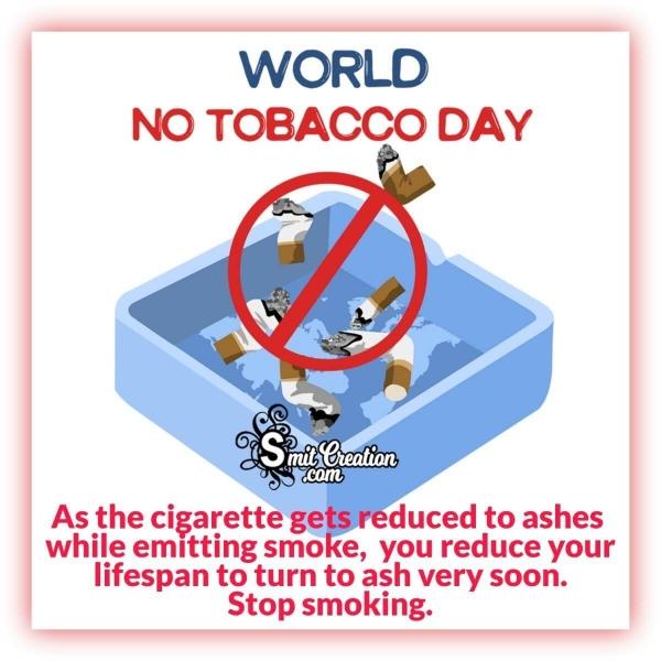 World No Tobacco Day Message Image