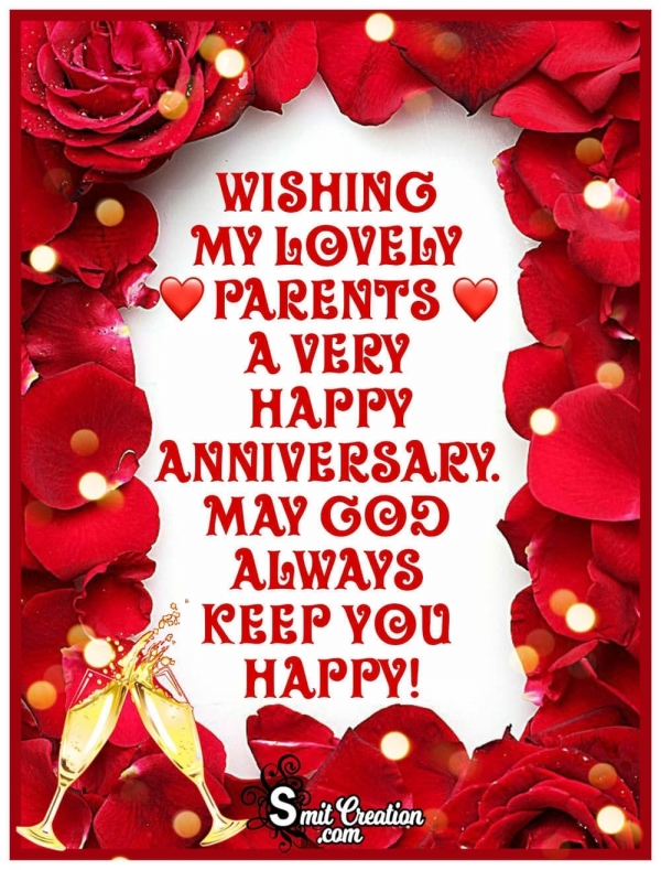 Wishing To Lovely Parents A Happy Anniversary