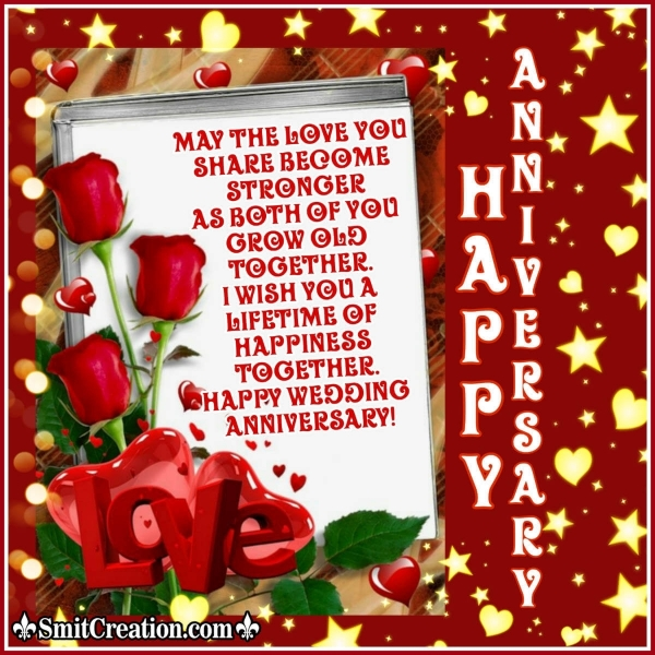Lovely Anniversary Wish Image For Parents