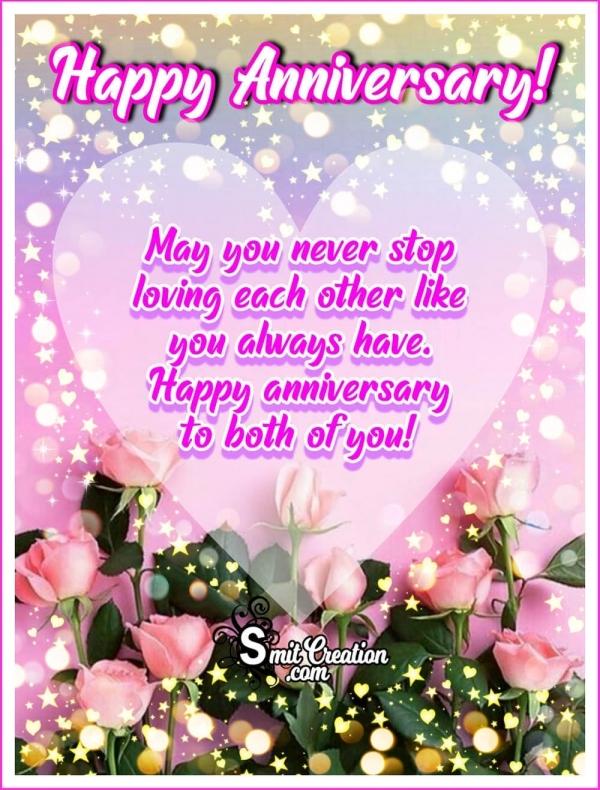 Happy Anniversary Wish Card