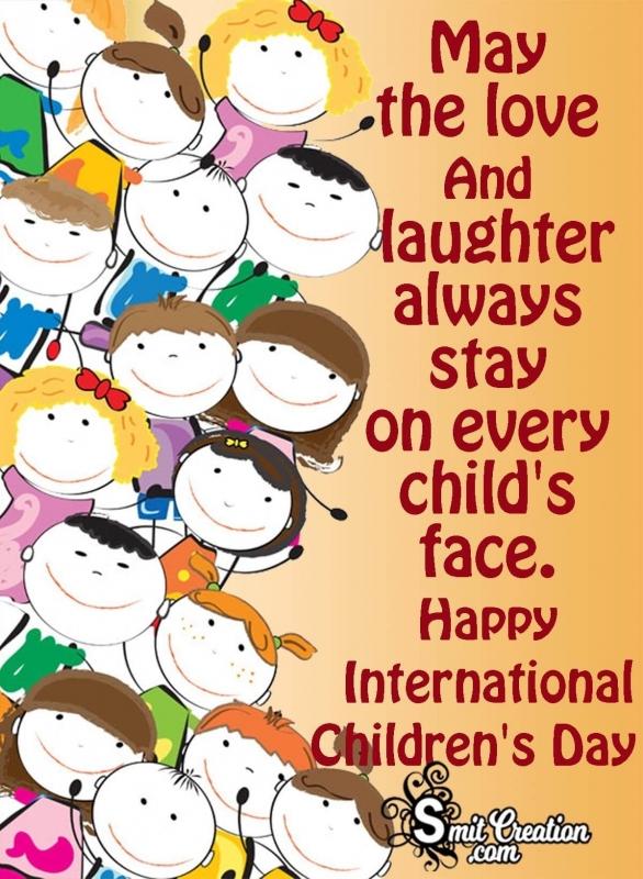 Happy International Children's Day Greeting