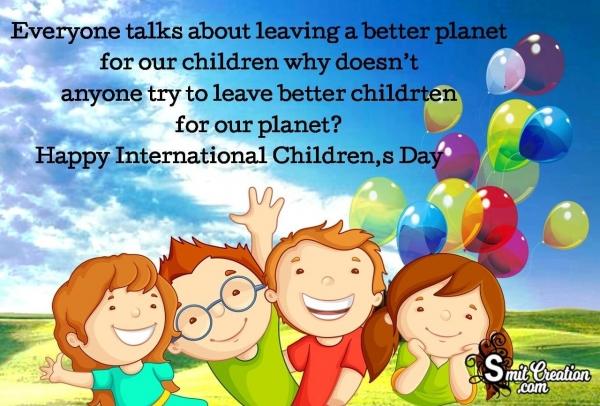 Happy International Children's Day Message