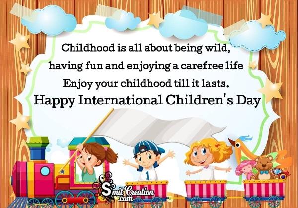Happy International Children's Day Wish