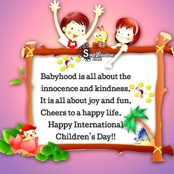 Happy International Children's Day Message Pic