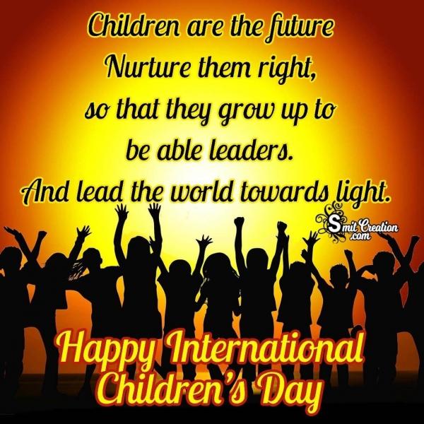 Happy International Children's Day Message Image