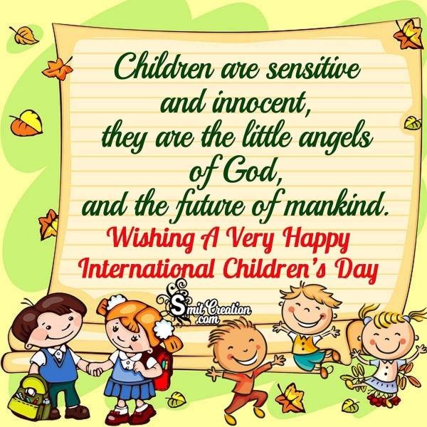 Wishing A Very Happy International Children's Day