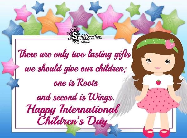 Happy International Children's Day Quote Pic