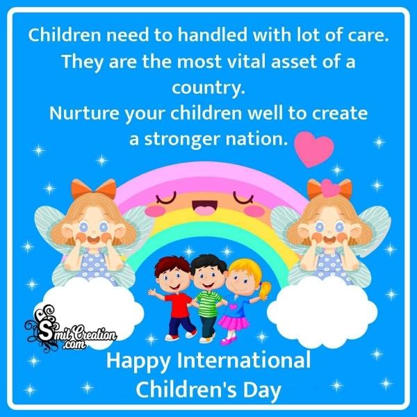 International Children's Day Message