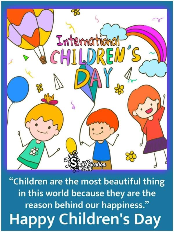 Happy International Children's Day Poster