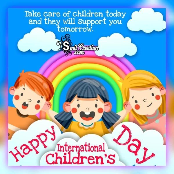 Happy International Children's Day Slogan