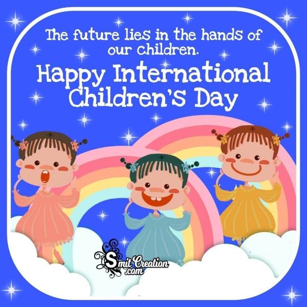 Happy International Children's Day Slogan Image