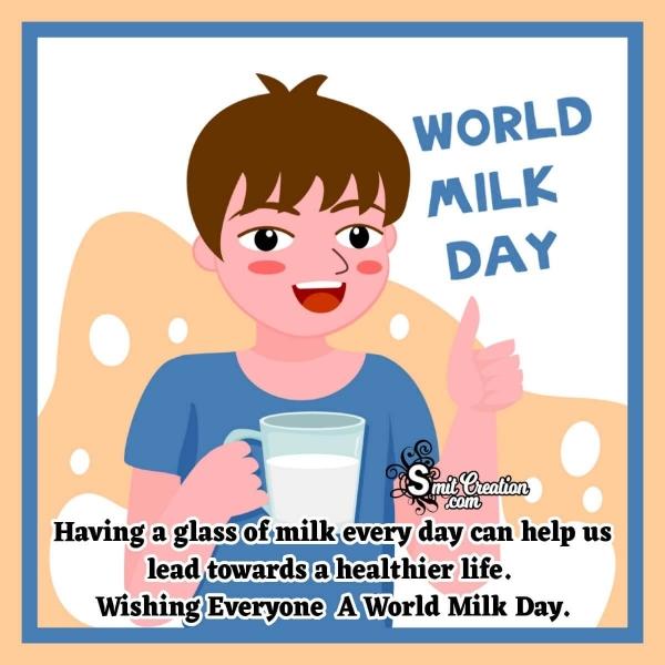 Happy World Milk Day Wish Message