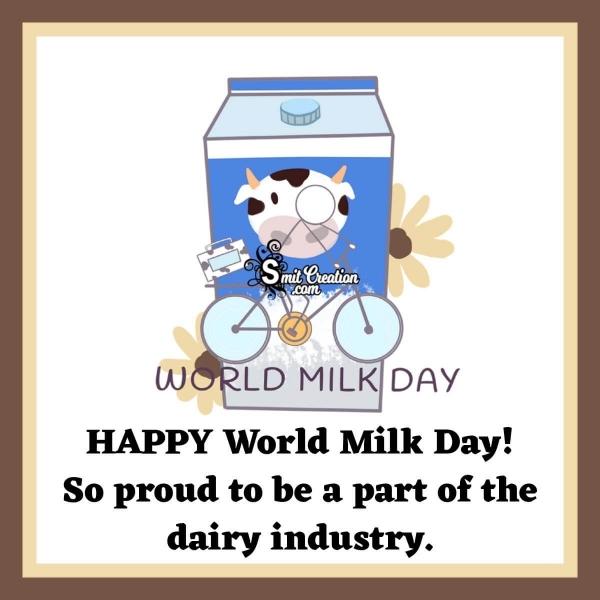 Happy World Milk Day Status