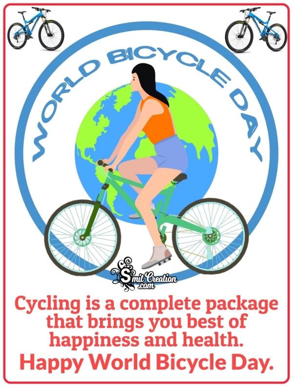 Happy World Bicycle Day Slogan