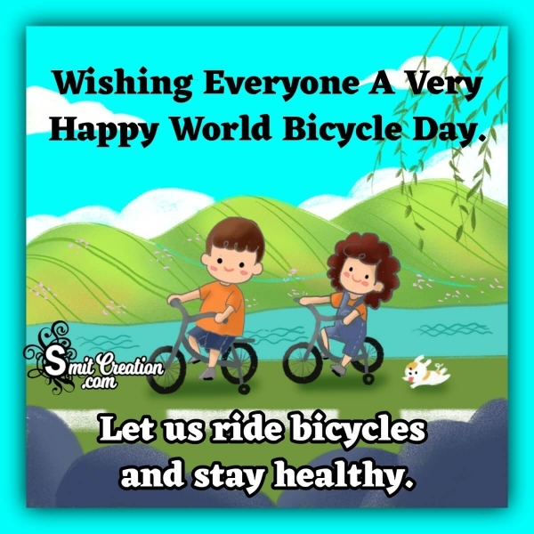 World Bicycle Day Status For Whatsapp, Facebook