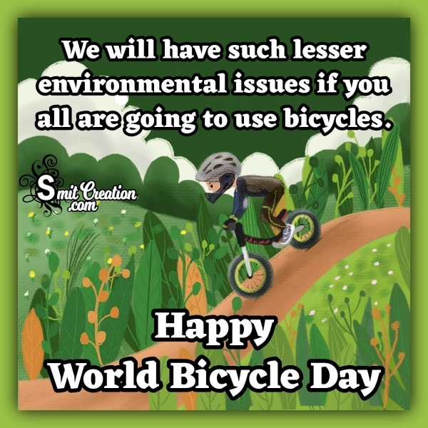 Happy World Bicycle Day