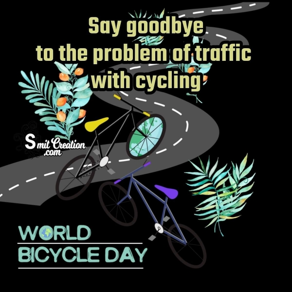 Happy World Bicycle Day Quote Image
