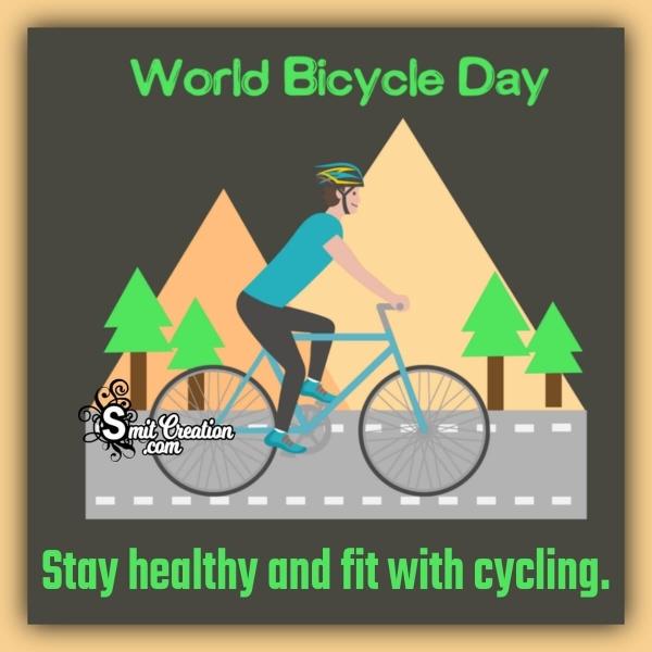 World Bicycle Day Slogan Image