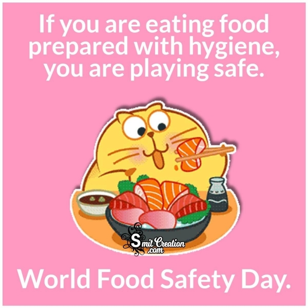 World Food Safety Day Whatsapp Pic