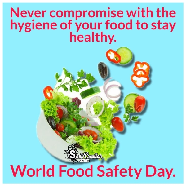 World Food Safety Day Image With Message