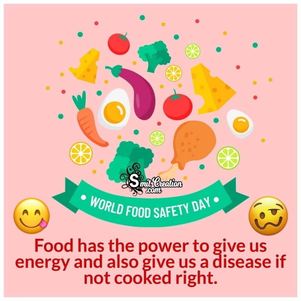 World Food Safety Day Message