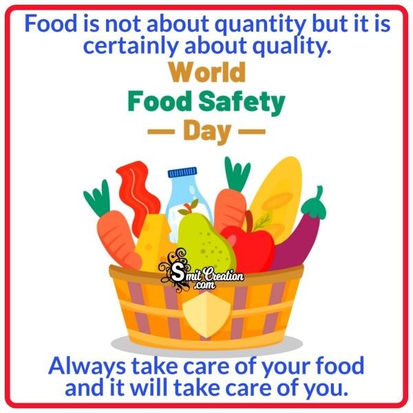 World Food Safety Day Slogan Pic