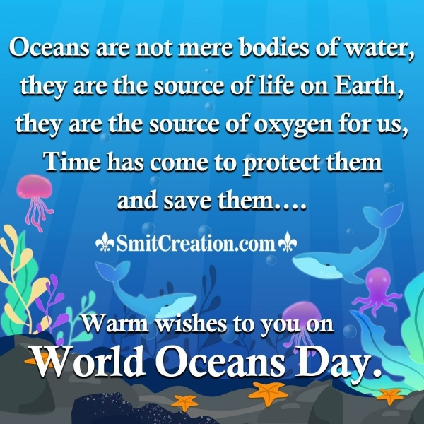 World Oceans Day Messages