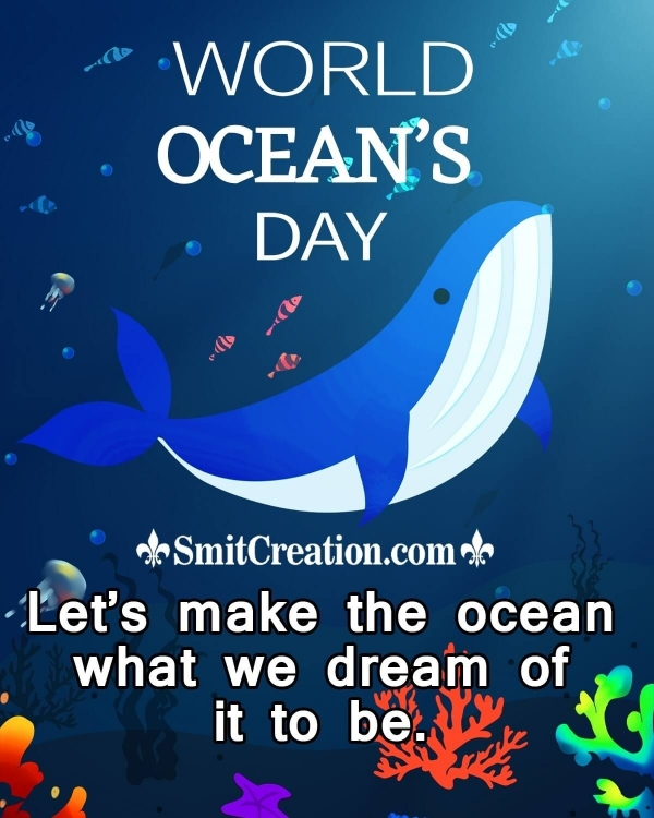 Happy Oceans day Poster