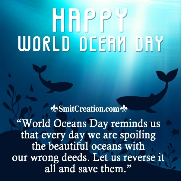 Happy World Oceans Day Message