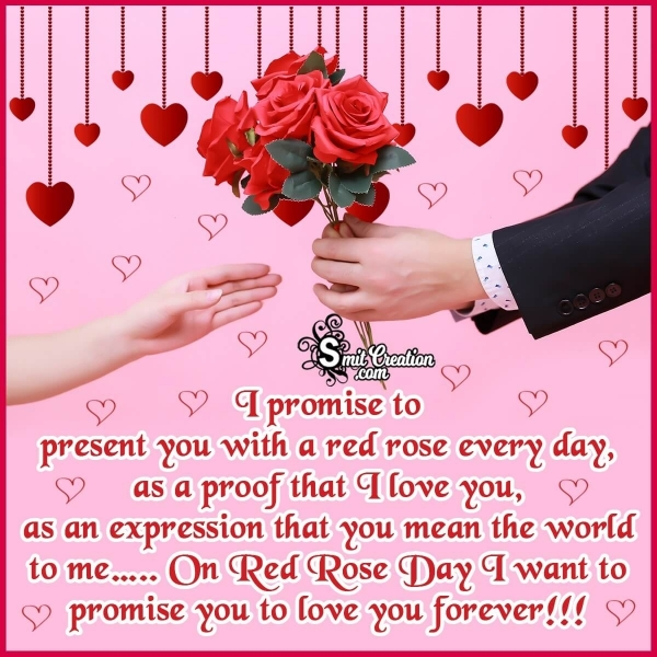 Happy Red Rose Day Wishes Messages For Lovers