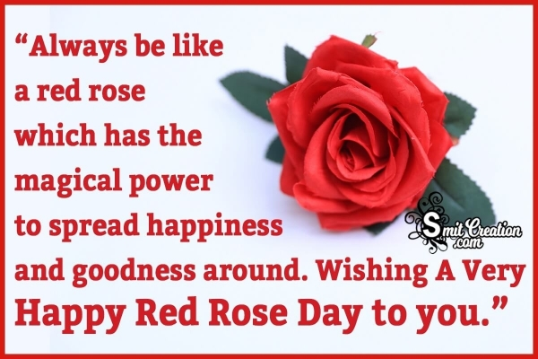 National Red Rose Day Motivational Quotes