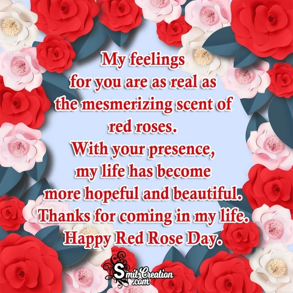 Happy Red Rose Day Greeting Message