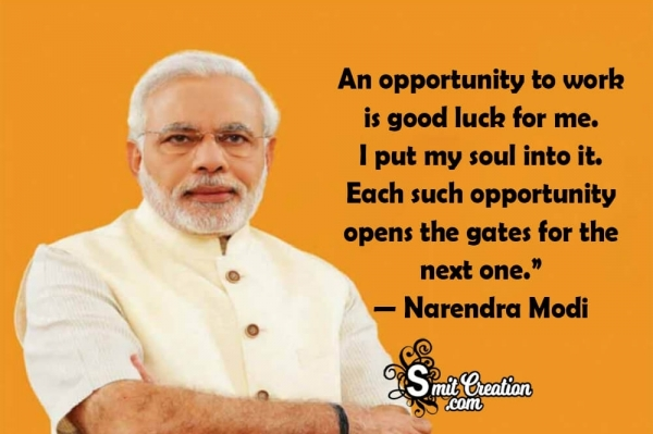 """""""An opportunity To Work Is Good Luck For Me"""