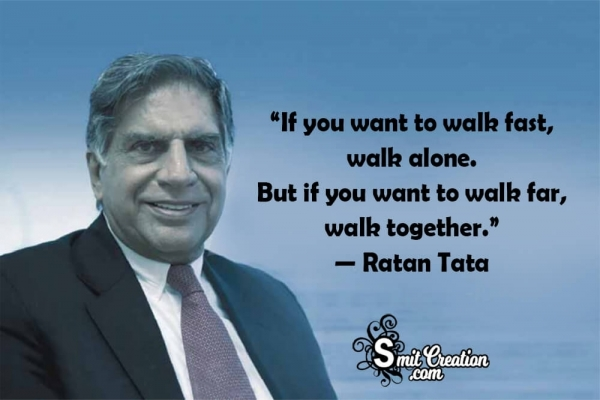 If You Want To Walk Fast, Walk Alone