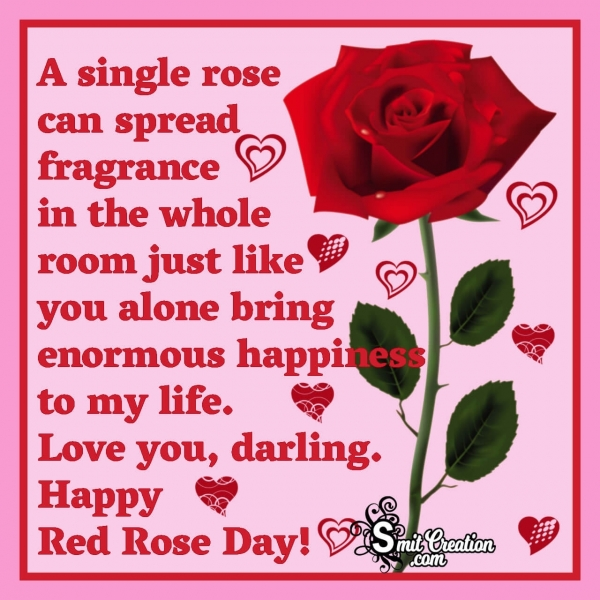 Happy Red Rose Day Quote Image