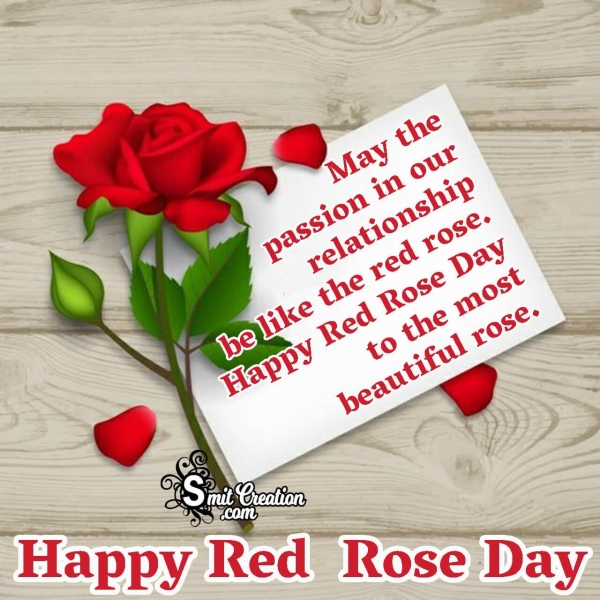 Happy Red Rose Day Wish Image