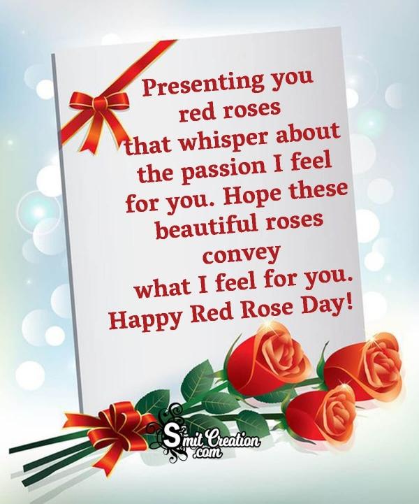 Happy Red Rose Day Message To Crush