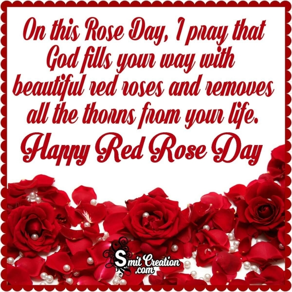 Happy Red Rose Day Blessing Image