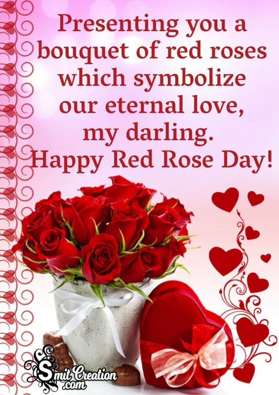 Happy Red Rose Day To Darling