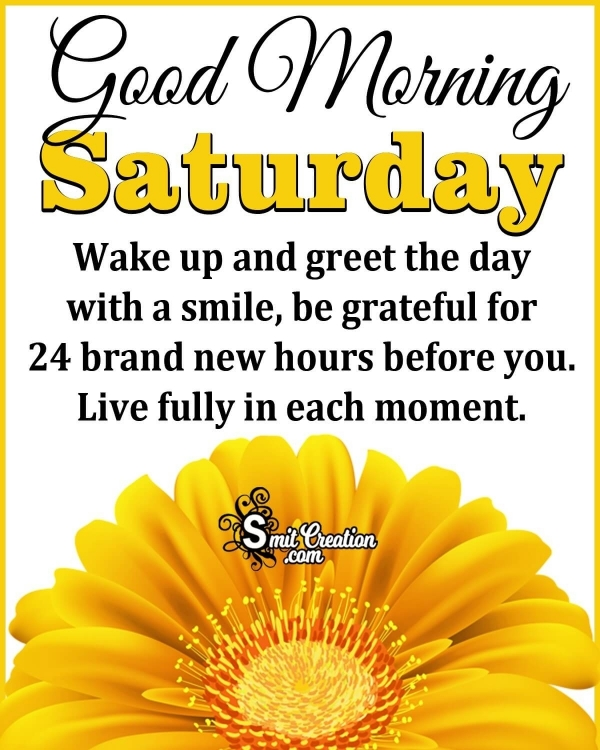 Good Morning Saturday Greeting