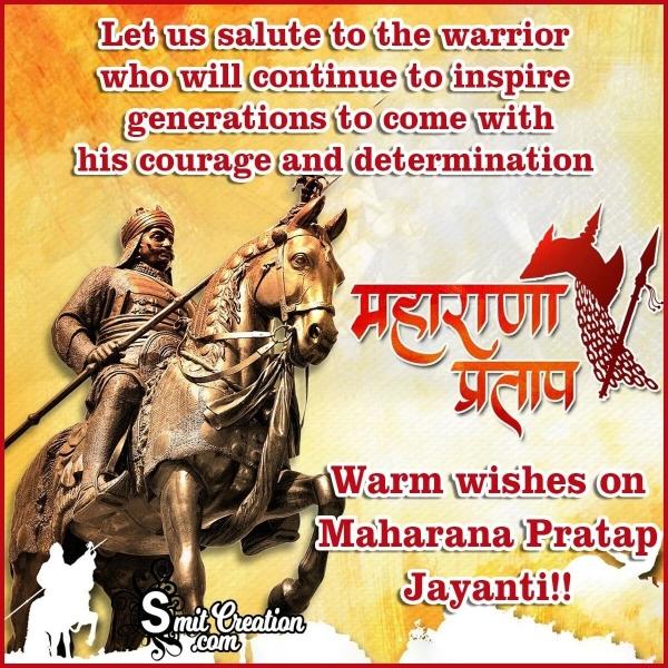 Happy Maharana Pratap Jayanti Wishes Image