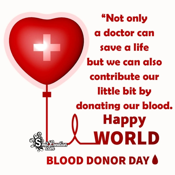Happy World Blood Donor Day Quotes