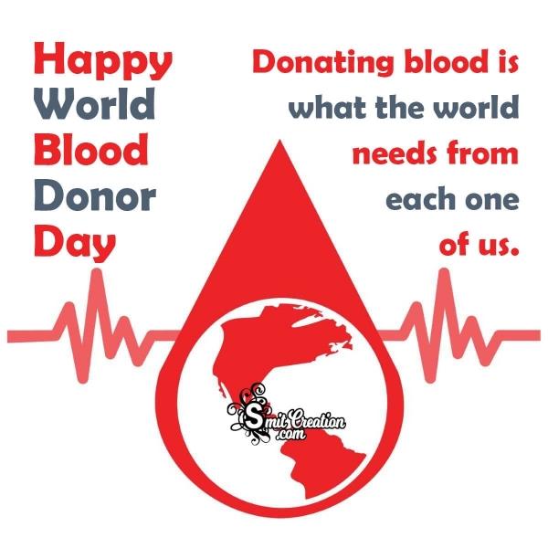 Happy World Blood Donor Day Whatsapp Status