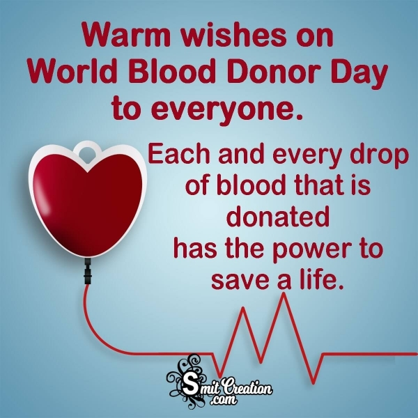 Happy World Blood Donor Day Messages