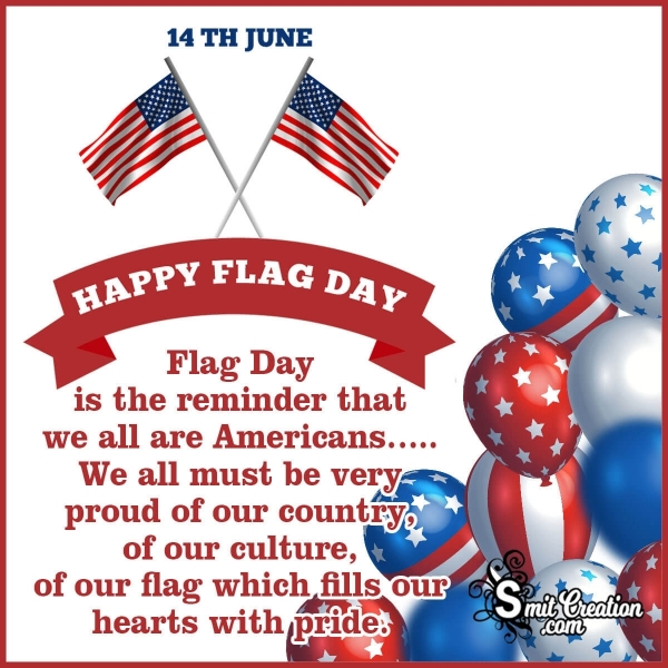 14 June Happy Flag Day Message