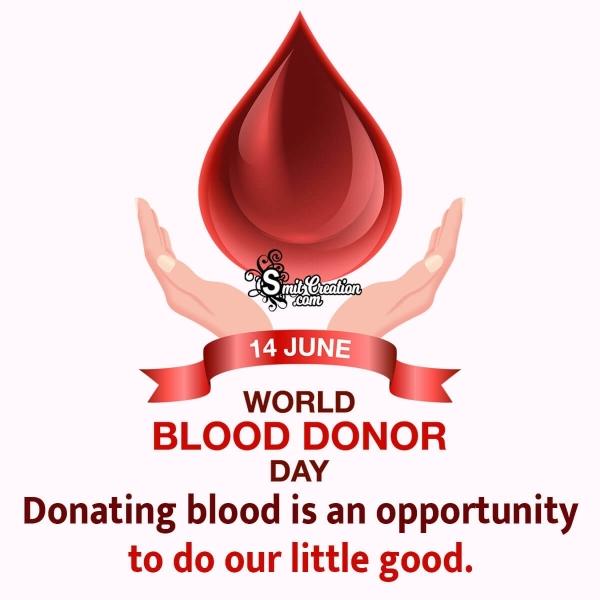 World Blood Donor Day Slogan Pic