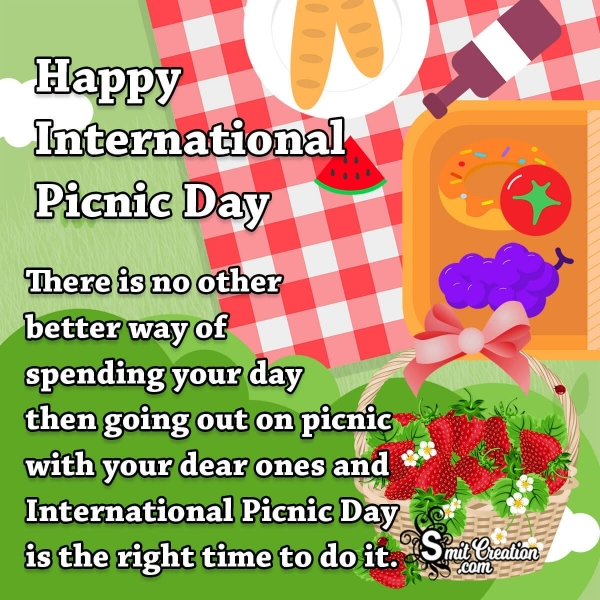 Happy International Picnic Day Message
