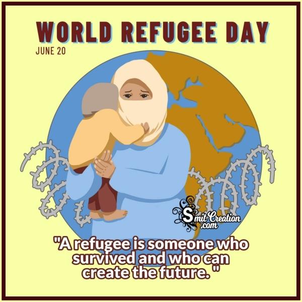 World Refugee Day Slogan Pic