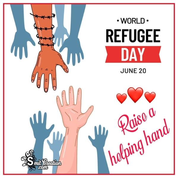 World Refugee Day Slogan Image