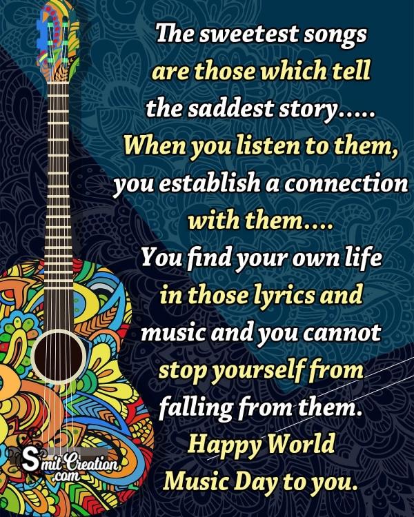 Happy World Music Day Message Photo